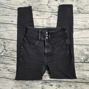 American Eagle 0 Super High-Rise Black Jeggings